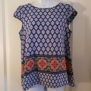 CB Cap Sleeve Patterned Top